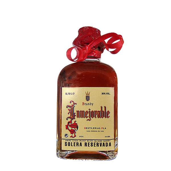 Botellita de Brandy Inmejorable de 125 cl.