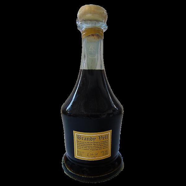 Botella de Brandy Vell por detrás
