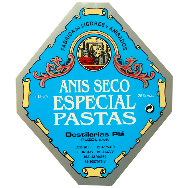 Etiqueta de anís para pastas