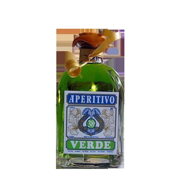 Botella de 100 cl de Absenta Verde