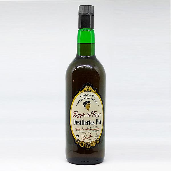 Botella Licor Crema de Ron Destilerías Plà