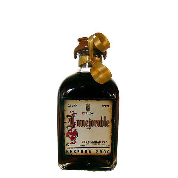 Botellita de Brandy Inmejorable 2000 de 100 cl