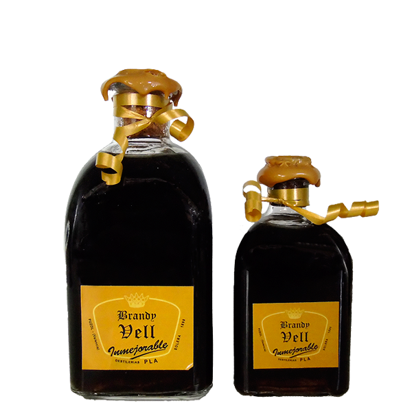 Botellas 250 y 125 cl Brandy Vell