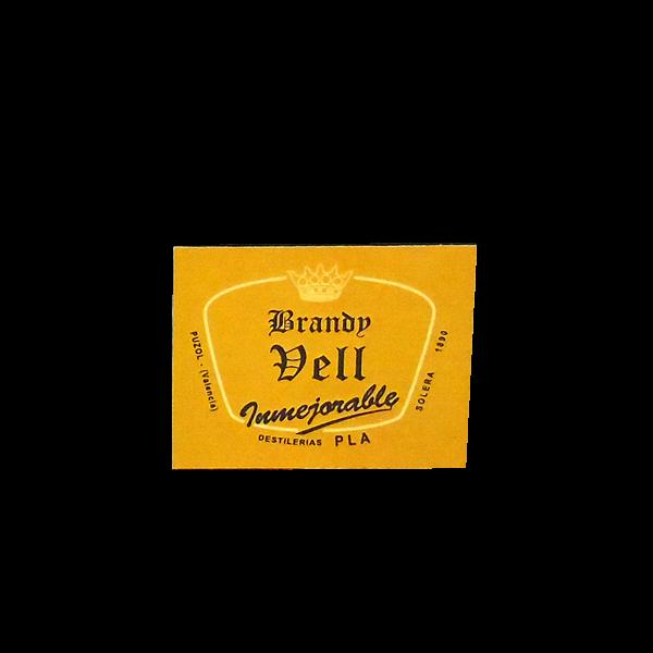 Etiqueta Botellita Brandy Vell 125 cl