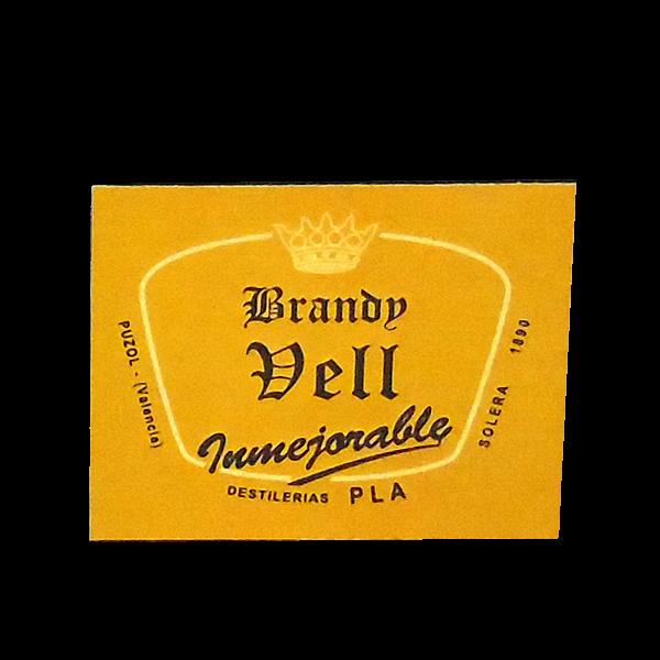 Etiqueta Brandy Vell 250 cl