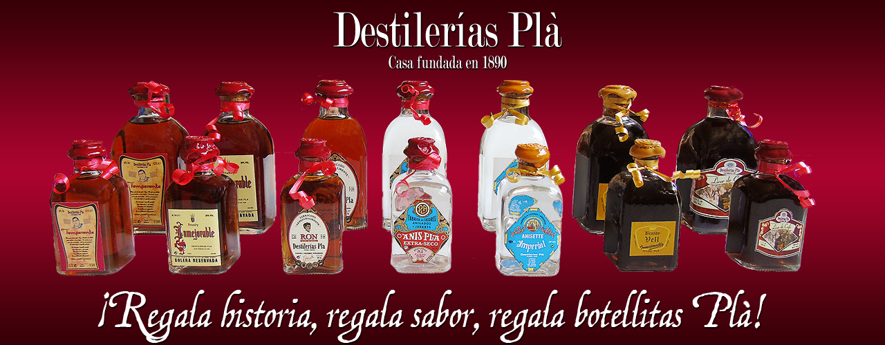 Todas las botellas Plà para regalo.